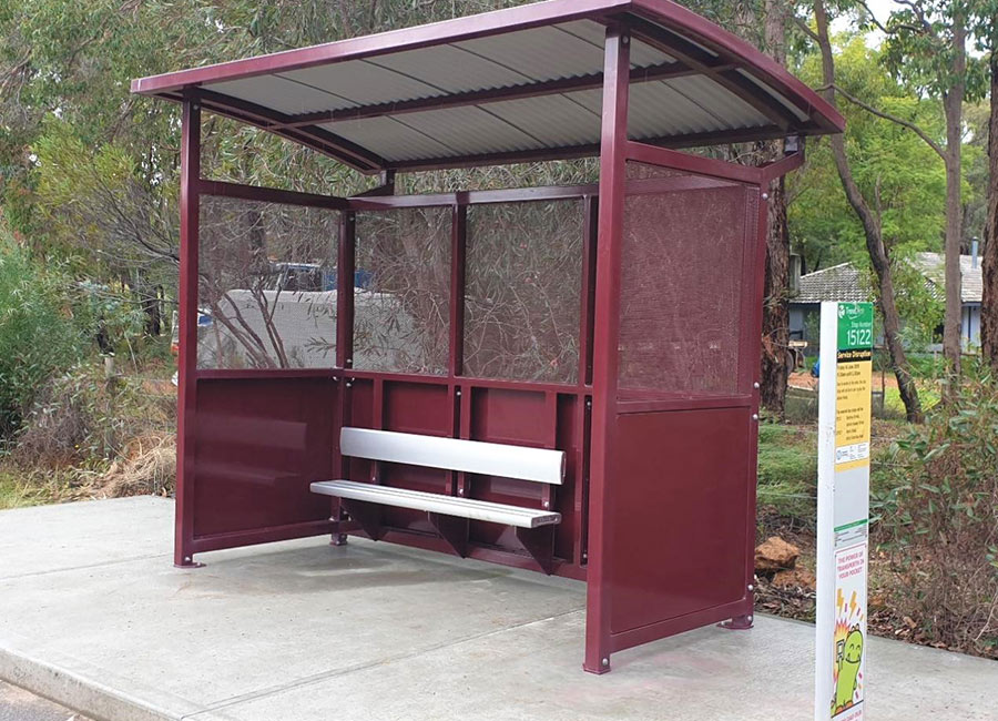 Woodlands-CMI Bus Shelter / Shire of Mundaring