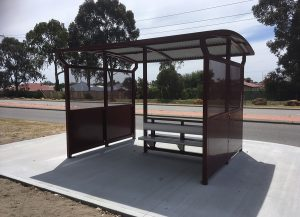 Woodlands Double Wide Bus Shelter