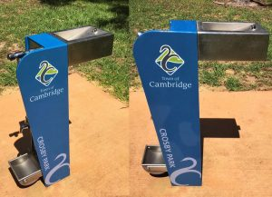 Drink Fountains - A280 customised logo